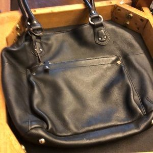 ❤️ tignanello black leather bag